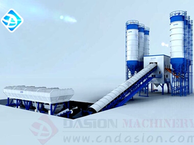 Belt Type Concrete Batching Plant 3D Working Video