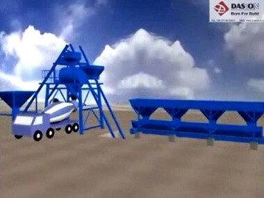 Bucket Concrete Batching Plant Working Video
