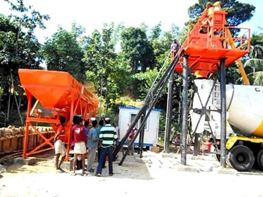 HZS25 Concrete Batching Plant In Bangladesh