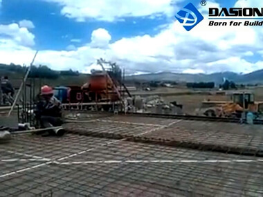Twin Shaft Concrete Mixer Pump Working Video