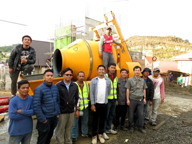 DASION Concrete Mixer Pump Testing In The Philippines